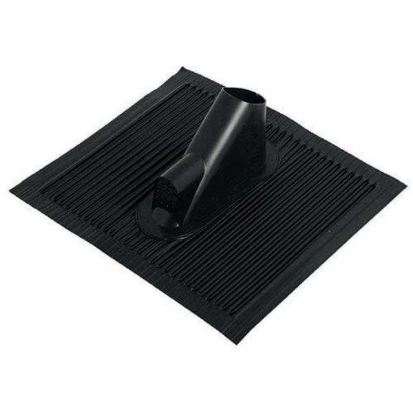 Satix Aluminium-Dachziegel mit Kabelführung, schwarz