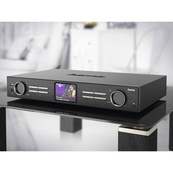 hama Digital-HiFi-Tuner DIT2000, UKW-/DAB+-/Internetradio, App-Steuerung, WiFi-Streaming, Multiroom-