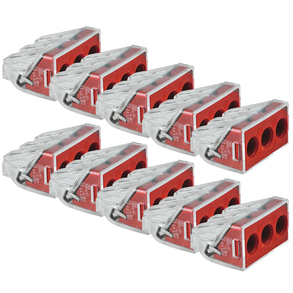 Wago 10er Pack Compact 2273-204 Verbindungsklemmen, 3pol.