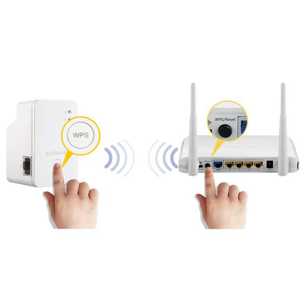 EDIMAX Mini-WLAN-Repeater EW-7438RPn Mini, 300 Mbit/s