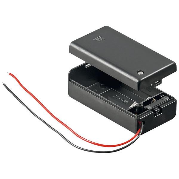 Goobay Batteriehalter, 1x 9 V Block