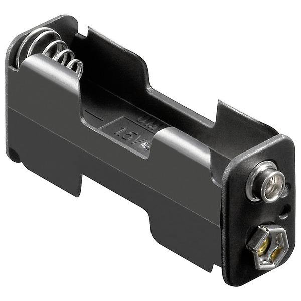 Batteriehalter, 2x Mignon, Druckknopf