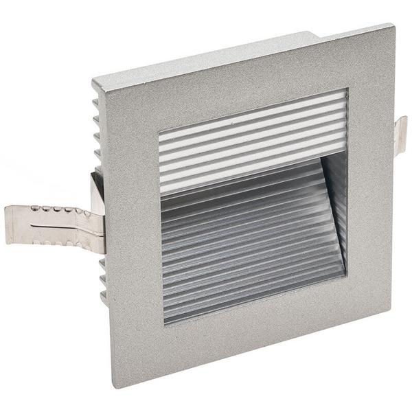SLV FRAME CURVE LED 1-W-LED-Einbauleuchte, warmweiß, silbergrau