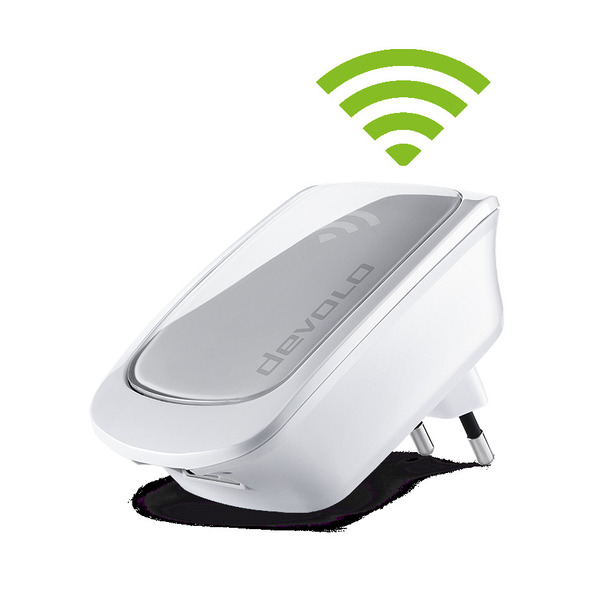 devolo WiFi Repeater, 300 Mbit/s, 1x LAN, WPS, WLAN Verstärker, weiß