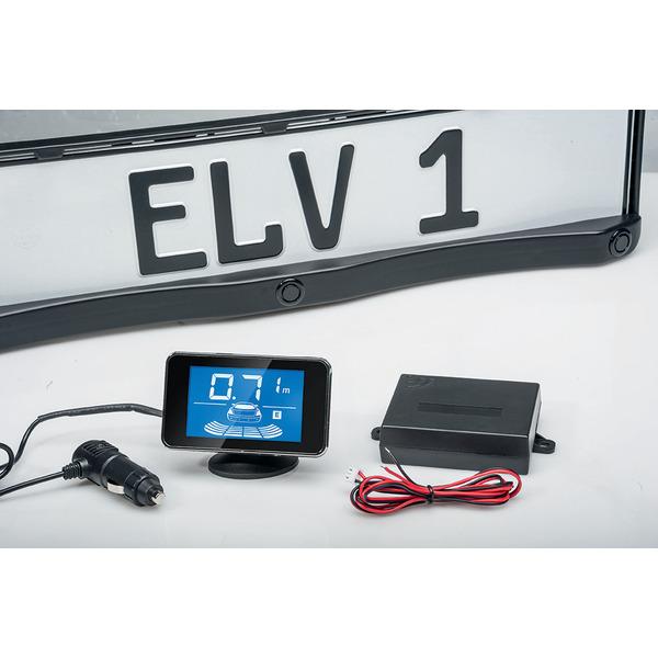 ELV SB668W-L Funk-Ultraschall-Einparkhilfe mit Kennzeichenhalterung
