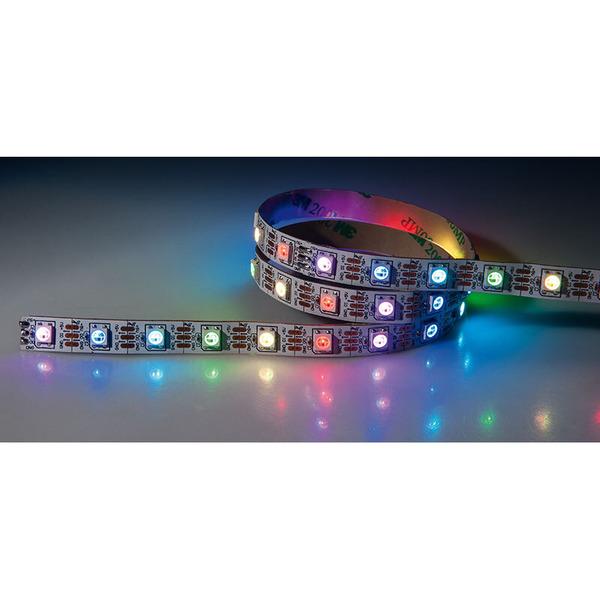 Diamex 5-m-LED-Streifen mit WS2812-kompatiblen-LEDs, 30 LEDs/m, weiße Platine