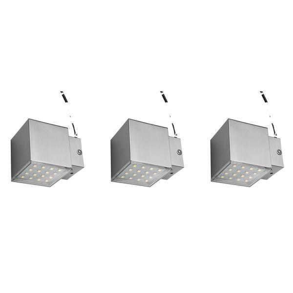 ELV 3-W-LED-Wandleuchte, warmweiß, 1-flammig, 3er-Set
