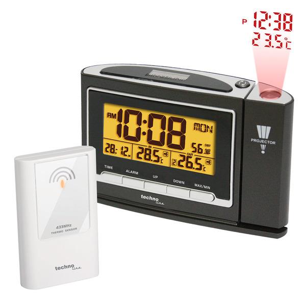 technoline WT 529 Funk-Wecker mit Projektion und Außen-Temperatursensor