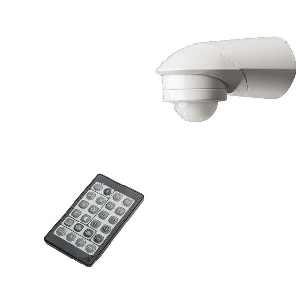 ELV 360°-Bewegungsmelder mit Unterkriechschutz, Erfassungsreichweite einstellbar, inkl. IR-Fernbedie