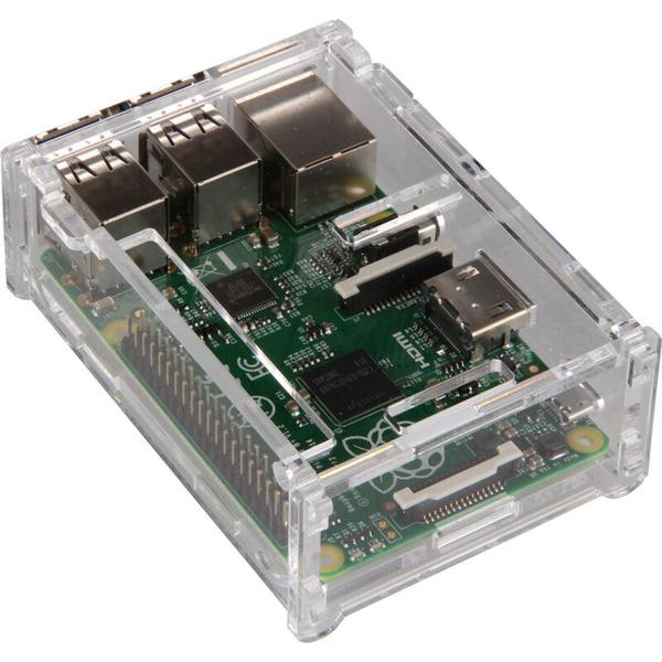 Gehäuse für Raspberry Pi Typ B+, 2 B und 3, transparent
