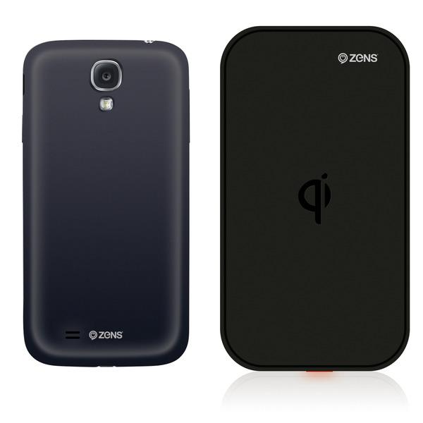 Zens Wireless QI-Ladegerät mit Akkucover für Samsung Galaxy S4 black