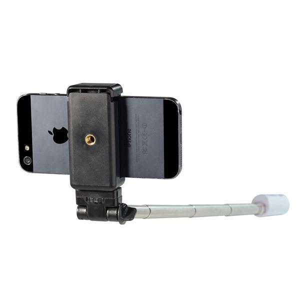 Ultron Selfie-Bluetooth-Stab SelfieBT, Teleskoparm mit Bluetooth-Auslöser fürs Smartphone