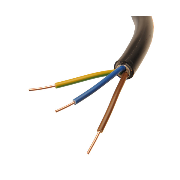 BKL Electronic NYY-J 3x 1,5 mm² Erdkabel, schwarz, 20 m
