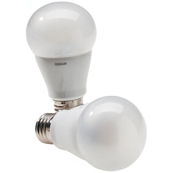 OSRAM 2er Set 10-W-LED-Lampen E27, warmweiß