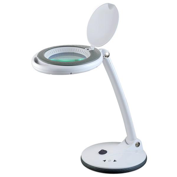 ELV Lupenleuchte, 1,75-fache Vergrößerung, (SMD-) LED 48 Stück, 5 W, Standfuß, dimmbar, wechselbare
