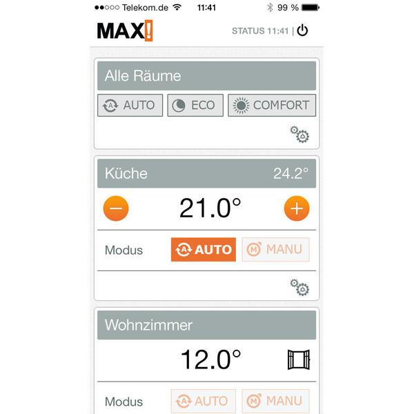 MAX! ARR-Bausatz-Einsteiger-Set mit 1x Cube und 1x Heizkörperthermostat