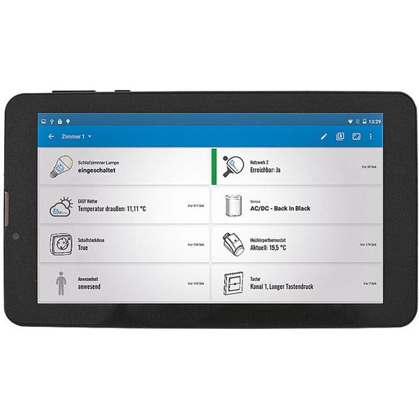 """EASY SmartHome Display 7 V4, IPS-Modell 17,78 cm (7""""), Statusanzeige mit Touchscreen, schwarz"""