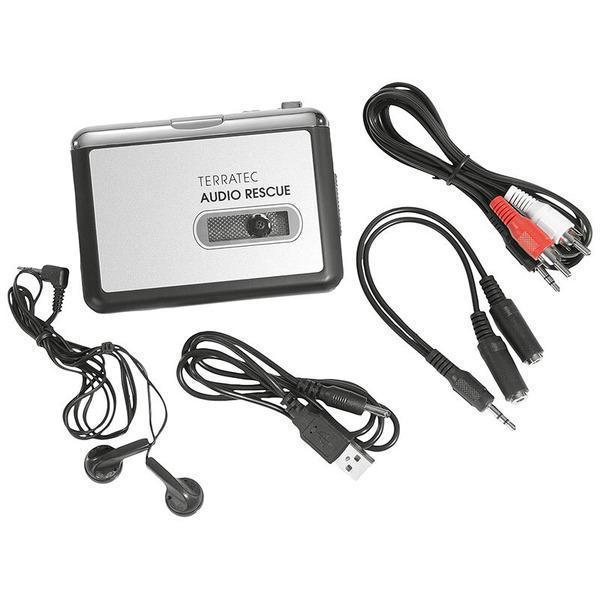 TerraTec Kassetten-Digitalisierer Audio Rescue, Aufnahme auf microSD, batteriebetrieben