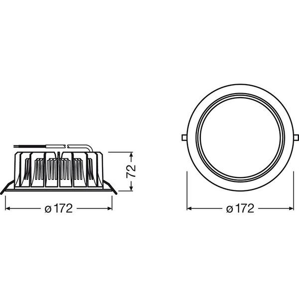 OSRAM LEDVANCE L 12-W-LED-Downlight,, neutralweiß