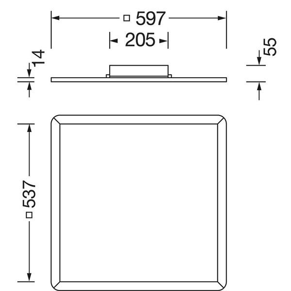 OSRAM LEDVANCE AREA 42-W-LED-Panel 600 x 600 mm, warmweiß