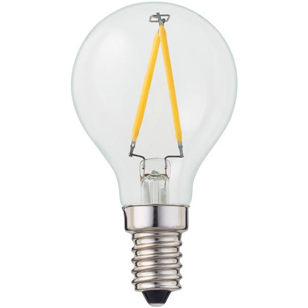 hellum 1,8-W-LED-Tropfenlampe E14, klar, warmweiß