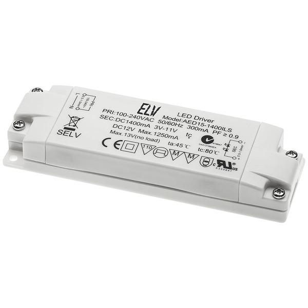 ELV 15-W-LED-Netzteil, 12 V DC