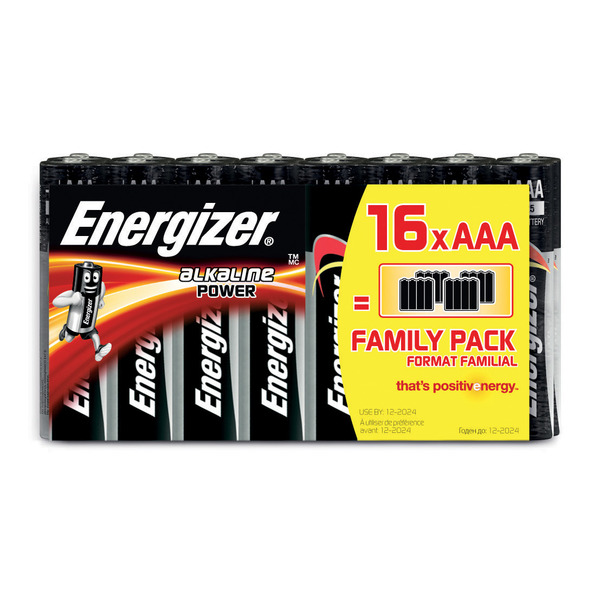 "Energizer Alkaline ""Power"" Batterie Micro AAA, 16er-Pack"