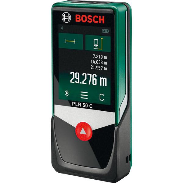 Bosch Laser-Entfernungsmesser PLR 50 C, mit Bluetooth und Smartphone-App, 50 m