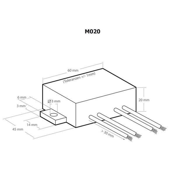 Kemo Spannungswandler M020, 24 V DC/ 13,8 V DC