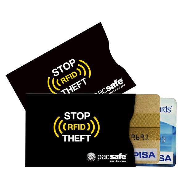 pacsafe Schutzhülle RFIDsleeve 25, 2er-Pack, für Kreditkarten, etc.