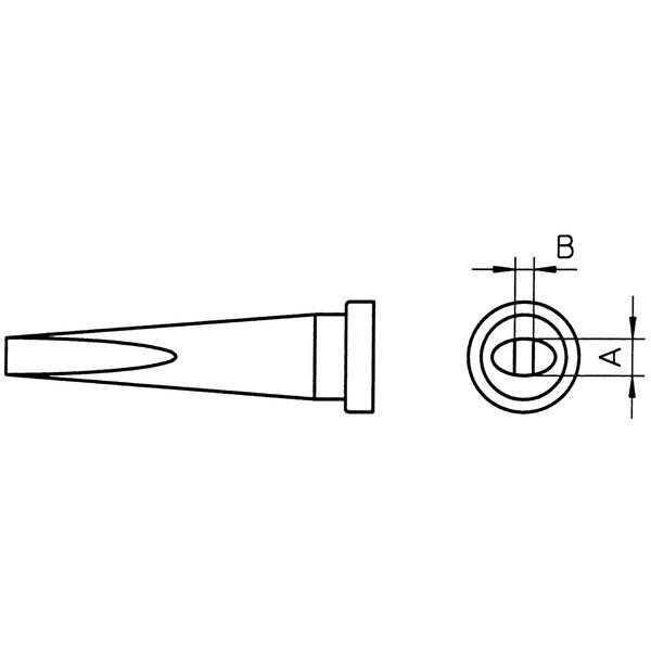 Weller Ersatzlötspitze LT K, meißelförmig, Spitze 1,2 mm breit