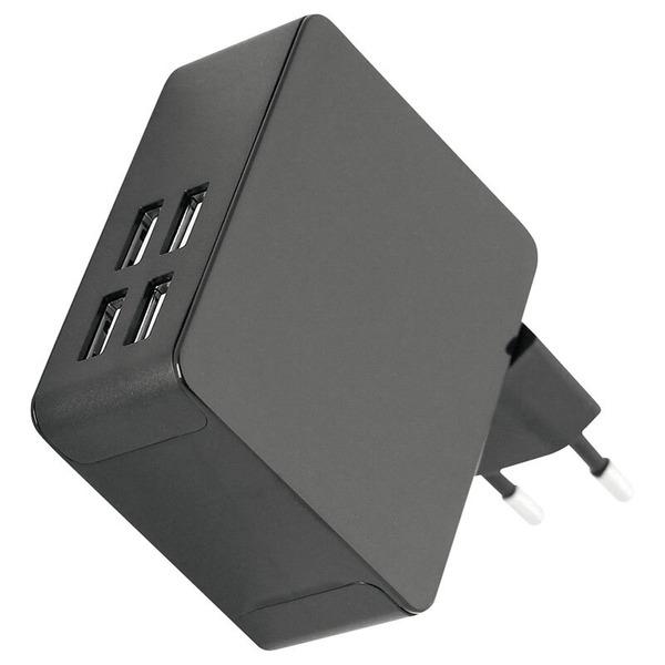fontastic USB-Netzteil Quad 4x USB AC450, 5A, schwarz