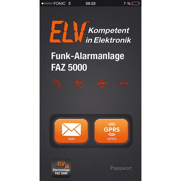 ELV Funk-Alarmanlage FAZ 5000 mit GSM-Telefonwählgerät, Spar-Set mit WLAN-IP-Netzwerkkamera