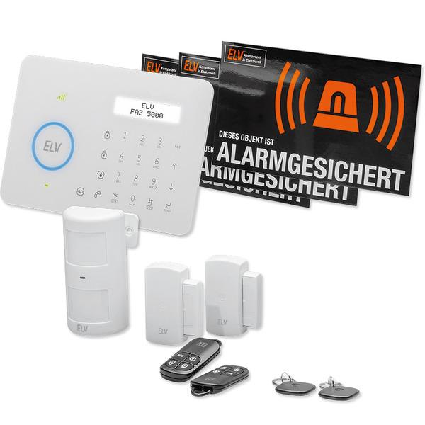 ELV Funk-Alarmanlage FAZ 5000 mit GSM-Telefonwählgerät, Starter-Set