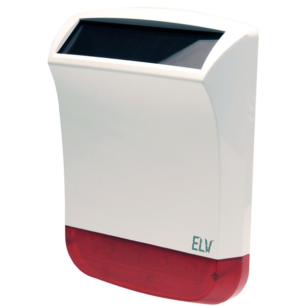 ELV Funk-Solar-Außensirene, IP 55