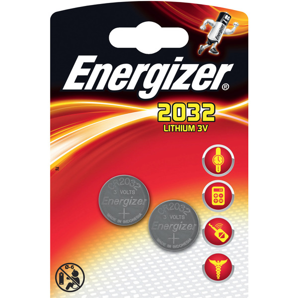 Energizer Lithium-Knopfzelle CR2032 2er Pack