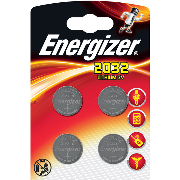 Energizer Lithium-Knopfzelle CR2032 4er Pack
