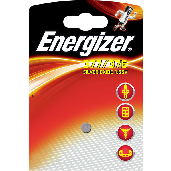 Energizer Silberoxid-Knopfzelle 377/376