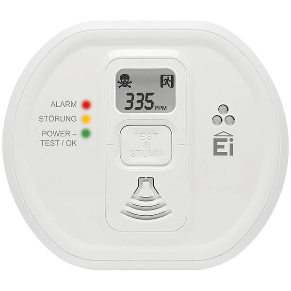 Ei Electronics Kohlenmonoxidwarnmelder Ei208D mit Display und 10 Jahres-Batterie