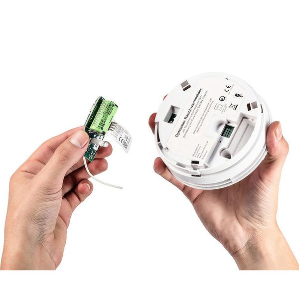 Ei Electronics Funk-Rauchmelder Ei650RF mit 10 Jahres-Batterie, inkl. Funkmodul