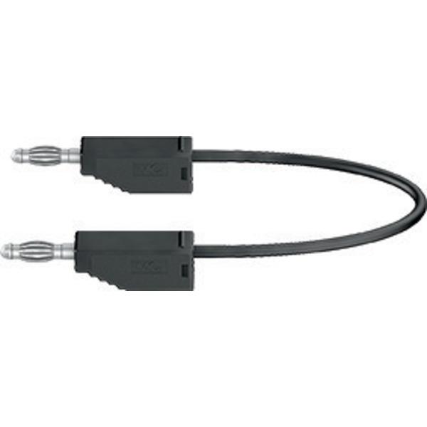 Silikon-Verbindungsleitungen LK425-A/SIL 4 mm, 30A, 2m, schwarz