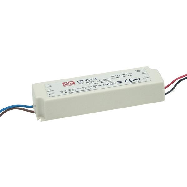 Mean Well Netzteil LPF-60-24, 60W, 24V, 2,5A, IP67