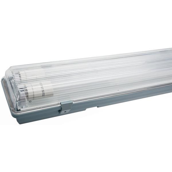 Müller Licht 24-W-LED-Feuchtraumwannenleuchte mit 2x12 W-Röhrenlampen, IP65