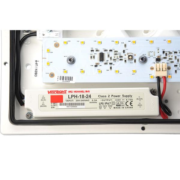 Visolight L300 18-W-LED-Wand-/Deckenleuchte, warmweiß, IP65
