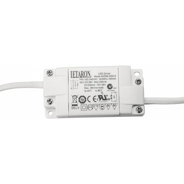 ELV 3er Set 4,5-W-LED-Aufbauleuchten (75 mm), warmweiß, inkl. Netzteil und Zuleitung