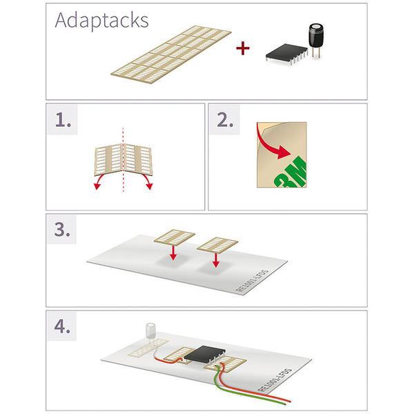 Adaptacks Selbstklebende SM8-Adapter, 5 Stück