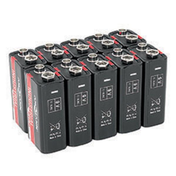 Ansmann Alkaline Batterie 9-V-Block, 10 Stück