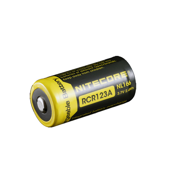 NiteCore Lithium Ion Akku 16340, 650 mAh NL166