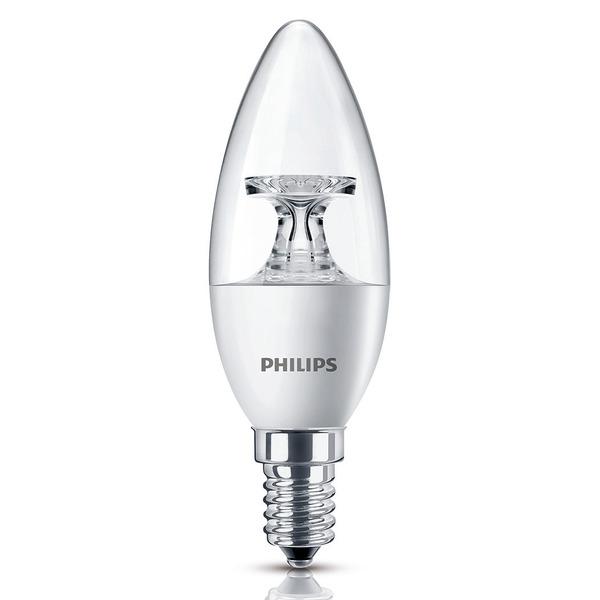 Philips CorePro LEDcandle 5,5-W-LED-Kerzenlampe E14, warmweiß, klar