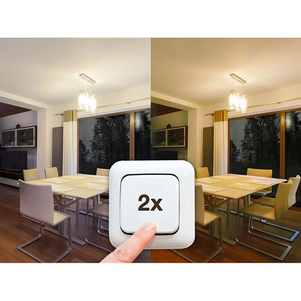 LEDON 10-W-LED-Lampe Dual Color (warmweiß und ultra-warmweiß), E27